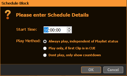 PLAYDECK Professional Video Playback Playout Software for Windows * Automation and Scheduling Capabilities
