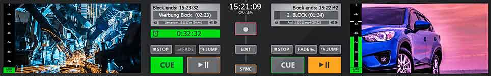 PLAYDECK Professional Video Playback Playout Software for Windows * Playlist Control